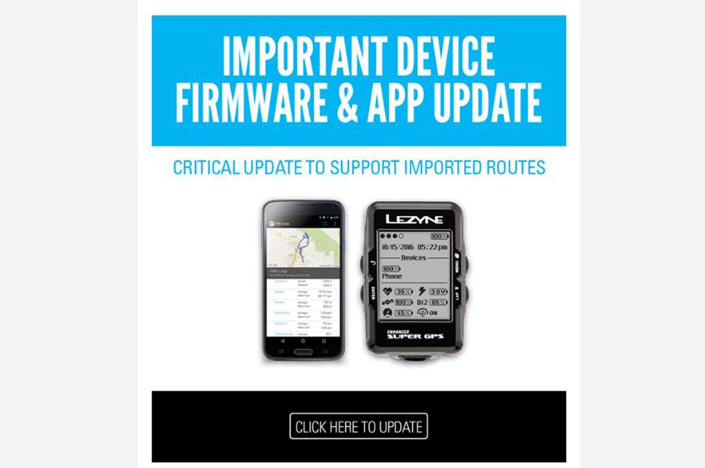 LEZYNE, importante aggiornamento Firmware e App 2016-17