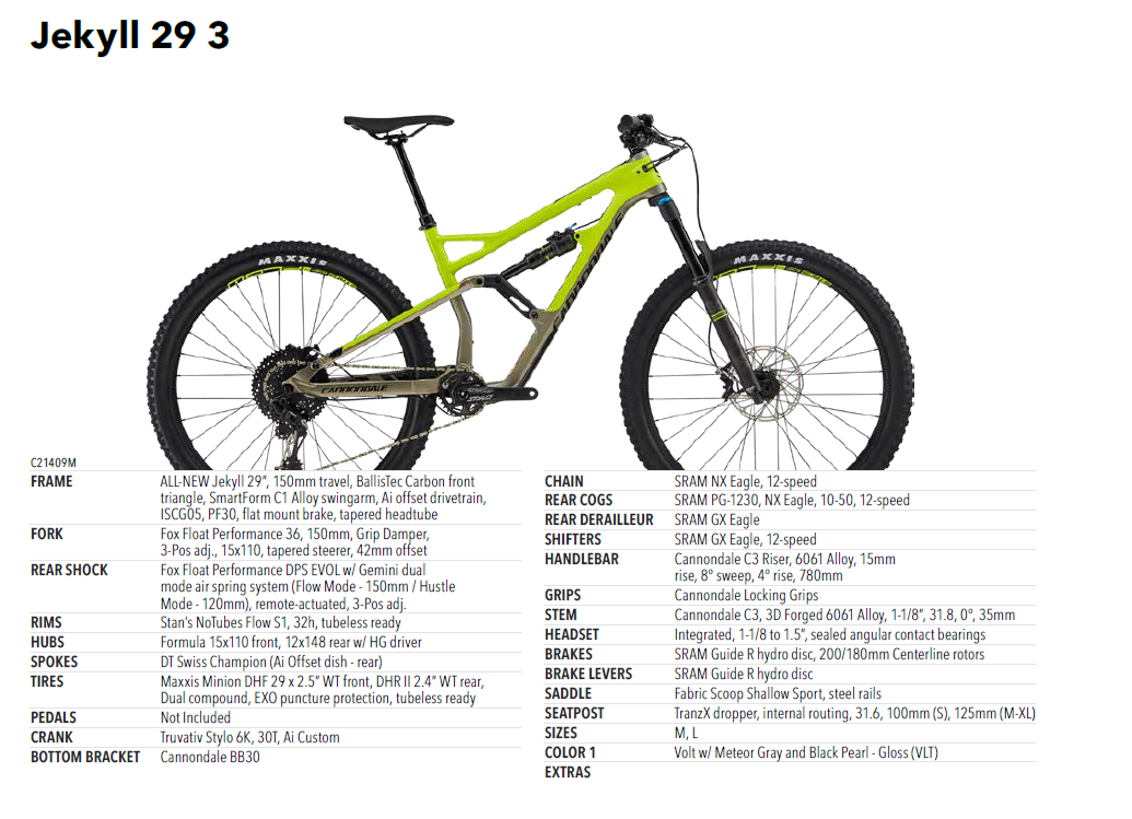 Cannondale Jekyll 29