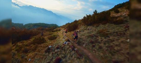 Bikers VS Drone: sfida tra le Dolomiti Paganella