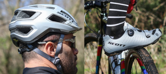 TEST casco SCOTT ARX PLUS e scarpe MTB COMP RIFLETTENTI