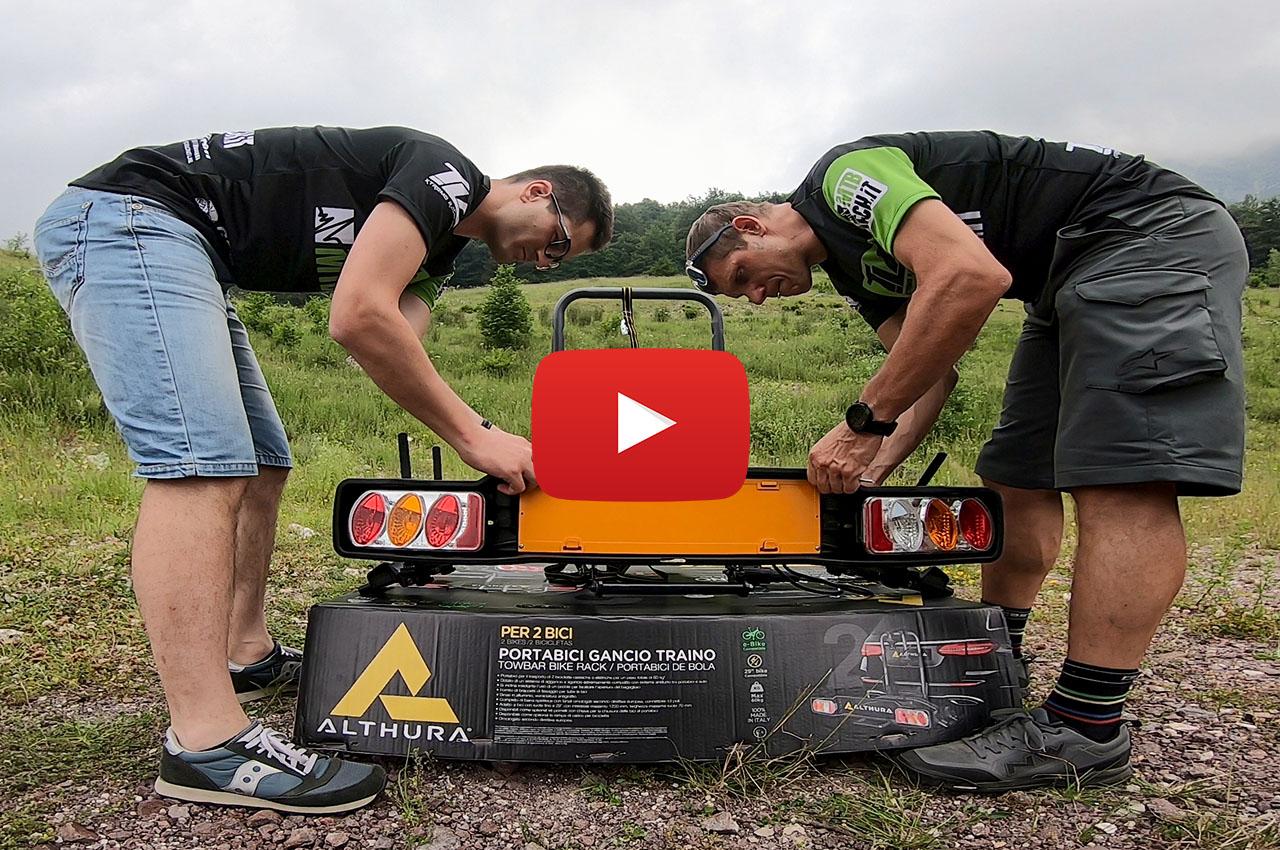 VIDEO – Unboxing portabici ALTHURA -anche per EBIKE- da gancio di traino
