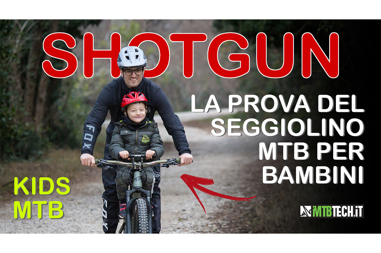 VIDEO TEST seggiolino da mountain bike SHOTGUN per bambini 😁