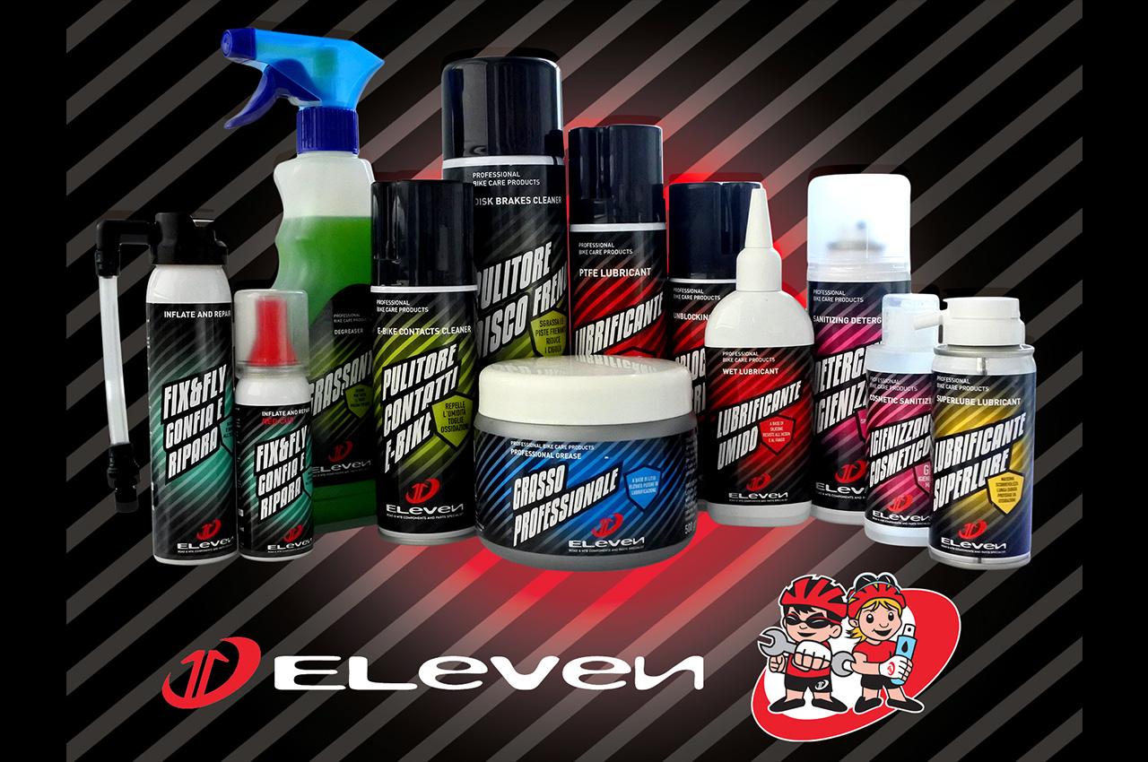 ELEVEN presenta la nuova linea di prodotti per la cura e la manutenzione della bici